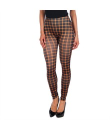 INTIMAX BLACK LEGGINS WITH ORANGE STRIPES