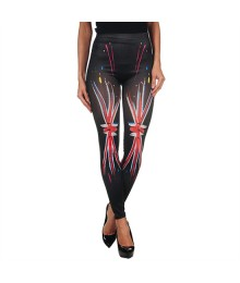 INTIMAX PAINTED LEGGINS UK BLACK