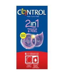PRESERVATIVOS CONTROL 2IN1 TOUCH FEEL LUBE 6UDS