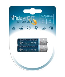 PILA RECARGABLE HR03 12V 900mA DAYRON PACK 2
